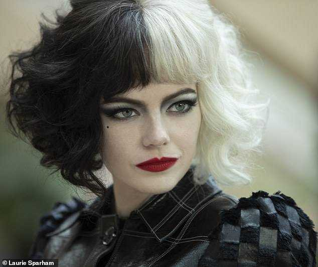 Upcoming: Her Cruella De Vil outfit comes after a choppy publicity for Disney's upcoming live-action origin story film for the character starring Emma Stone